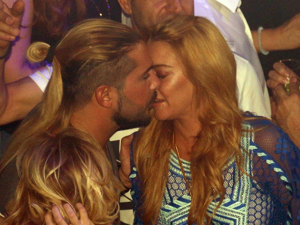 Dennis Papageorgiou und Lindsay Lohan im Bouzoukia in Athen