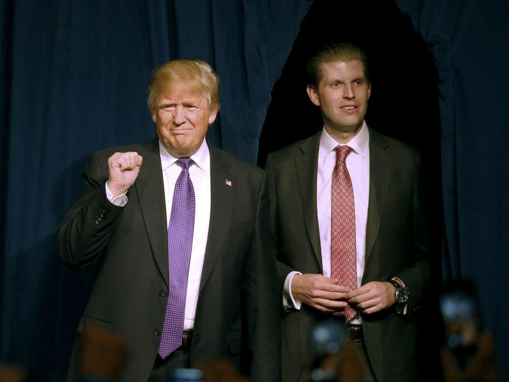Donald Trump und Sohn Eric in Las Vegas