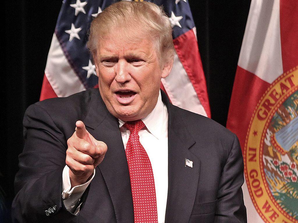 Donald Trump beim Wahlkampf 2016 in Miami