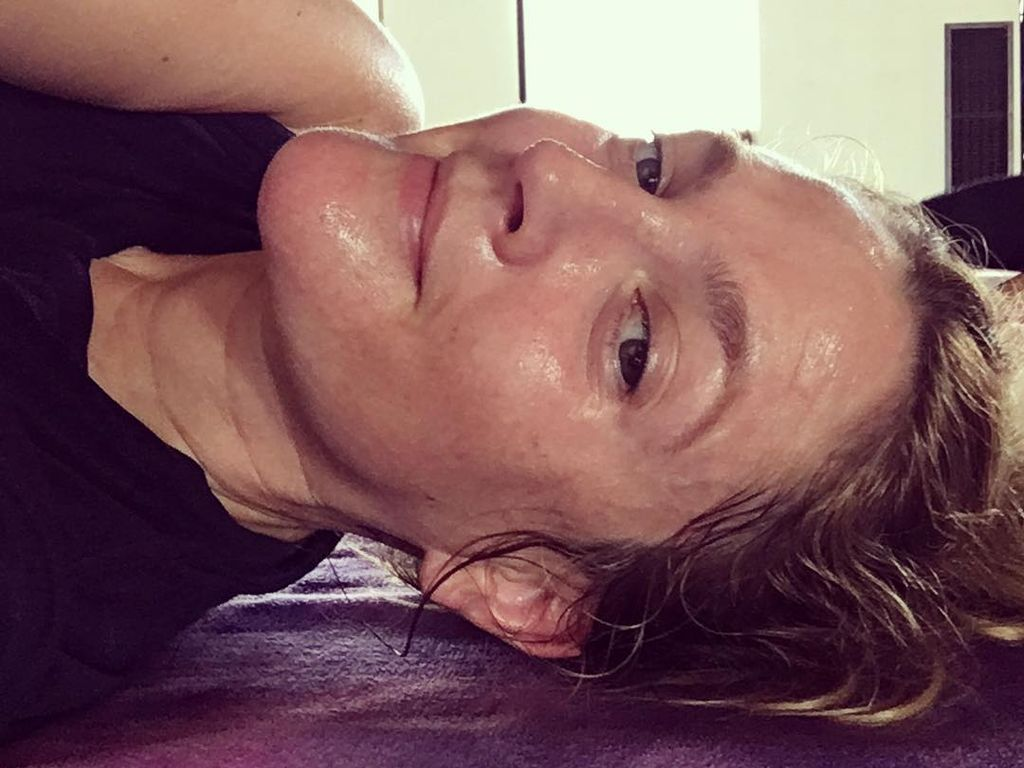 "Drew Barrymore nach einer ""Hot Yoga""-Session"