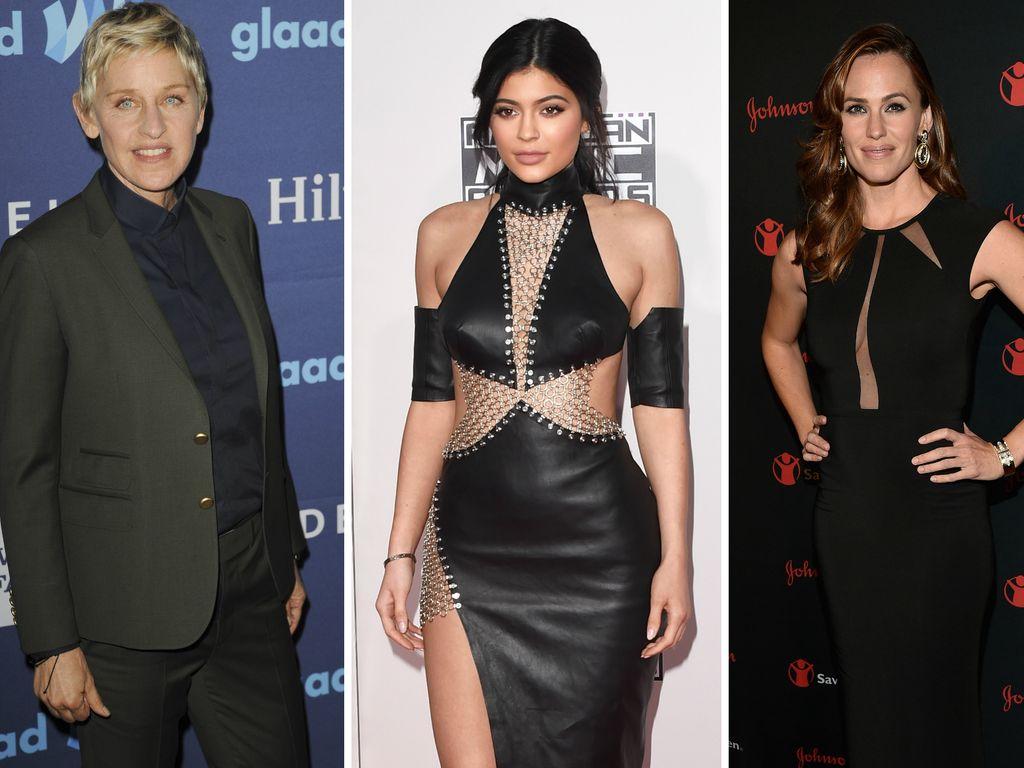 Kylie Jenner, Jennifer Garner und Ellen DeGeneres