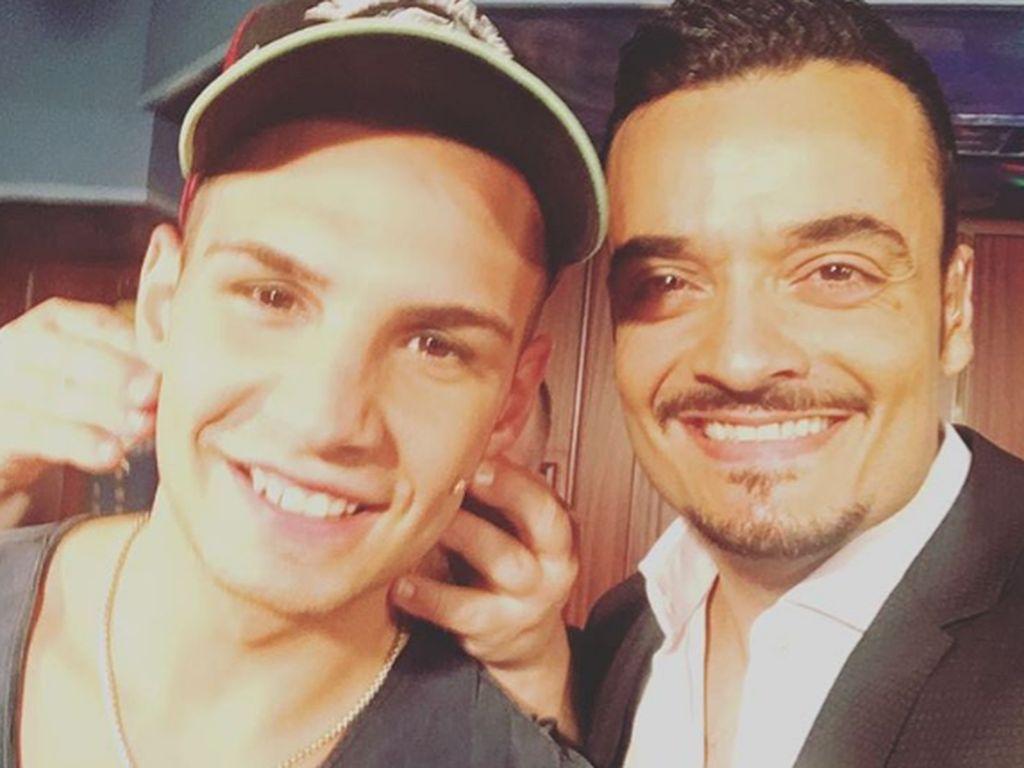 "Pietro Lombardi und Giovanni Zarrella backstage beim ""RTL II-Promi-Kegelabend"""