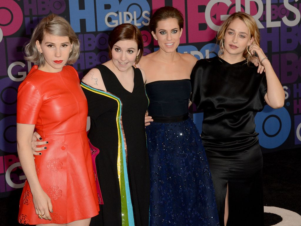 Lena Dunham, Allison Williams, Zosia Mamet und Jemima Kirke