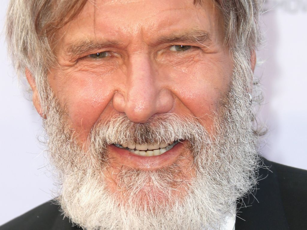 Harrison Ford mit Rauschebart bei der Life Achievement Award Gala in L.A.