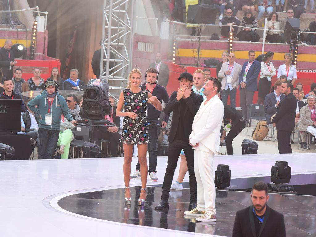 Heidi Klum, Thomas Hayo und Michael Michalsky beim Finale von GNTM 2016