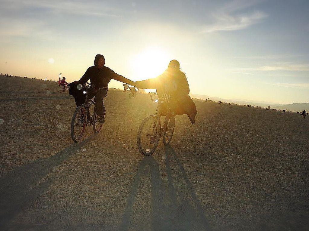 Heidi Klum und Vito Schnabel zusammen auf dem Fahrrad