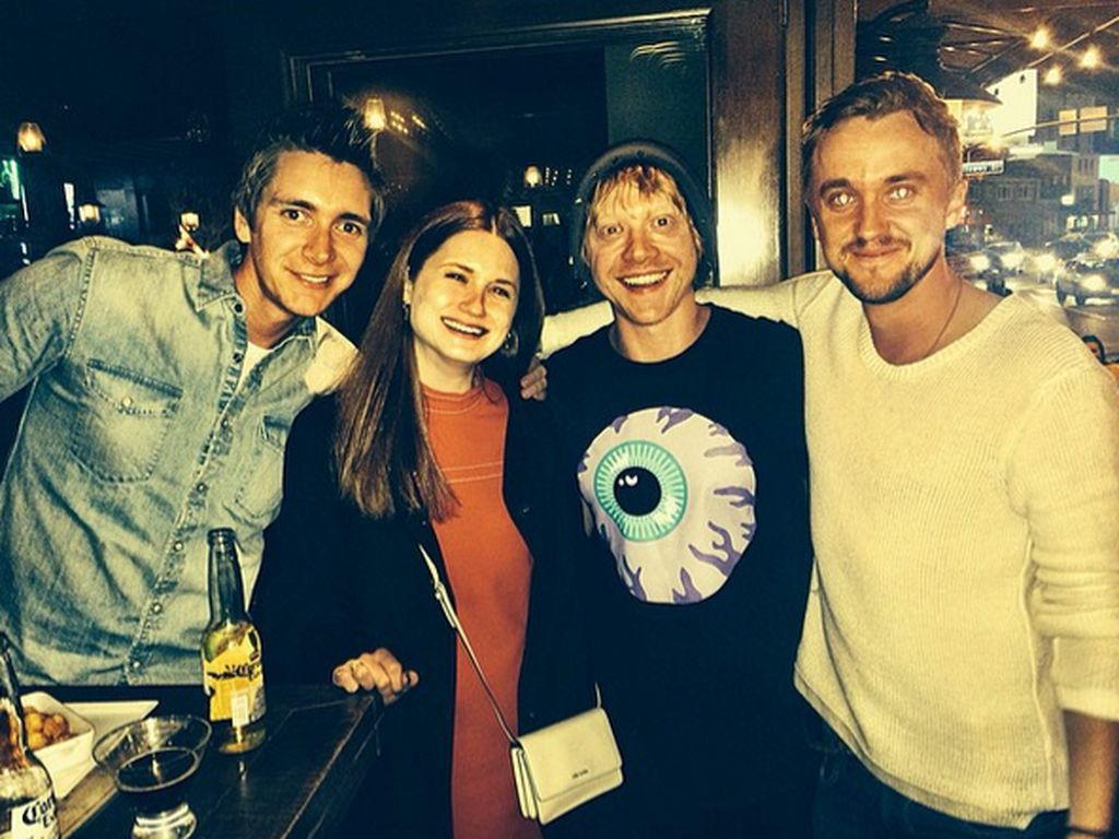 Rupert Grint, Bonnie Wright und Tom Felton