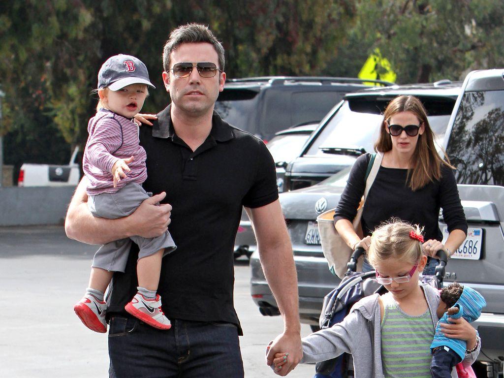 Ben Affleck und Jennifer Garner mit Kindern