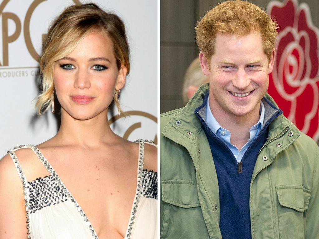 Prinz Harry und Jennifer Lawrence