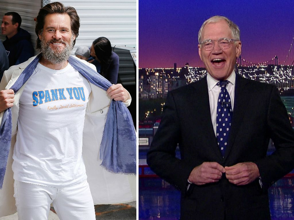 Jim Carrey und David Letterman