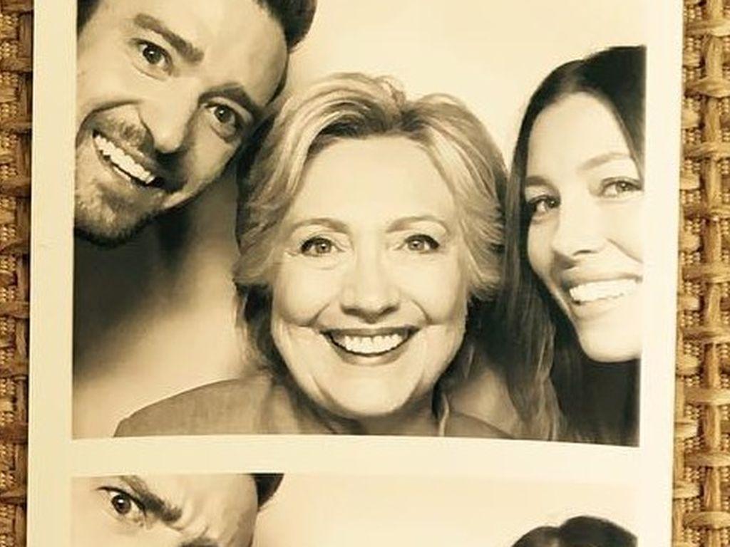 Justin Timberlake, Hillary Clinton und Jessica Biel