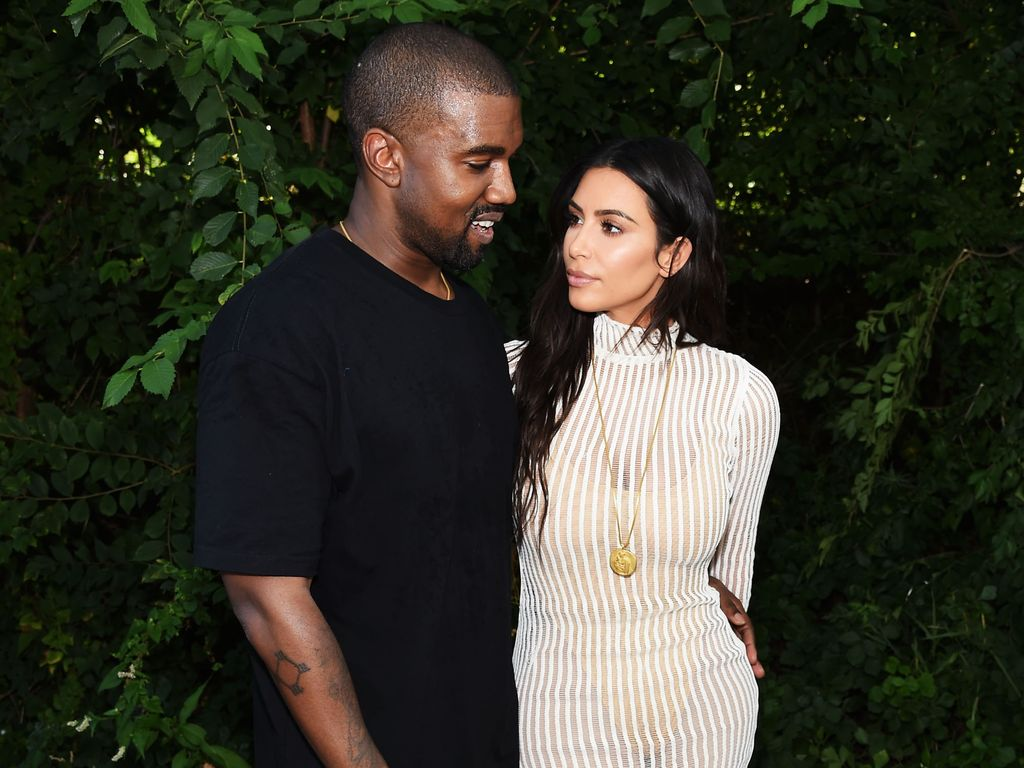 Kanye West und Kim Kardashian bei der Yeezy Season 4 in New York