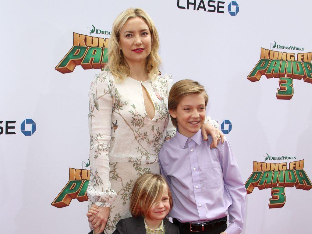 Kate Hudson mit ihren Söhnen