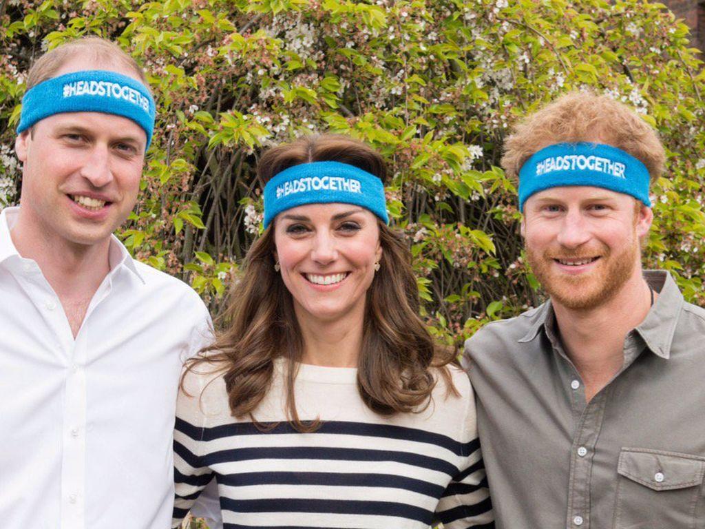 Prinz William, Herzogin Kate und Prinz Harry bei einem Spendenlauf