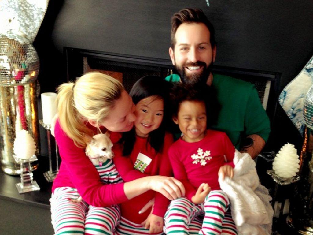 Katherine Heigl mit ihrer Familie