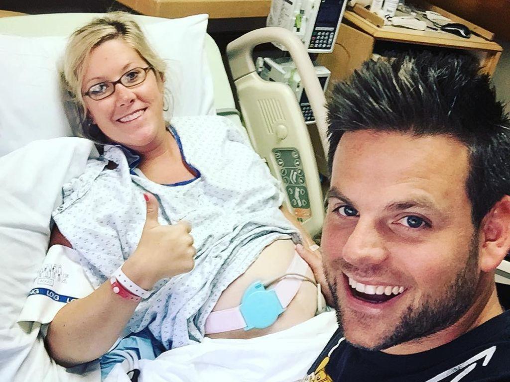 Katie und Cullen Byington im Krankenhaus