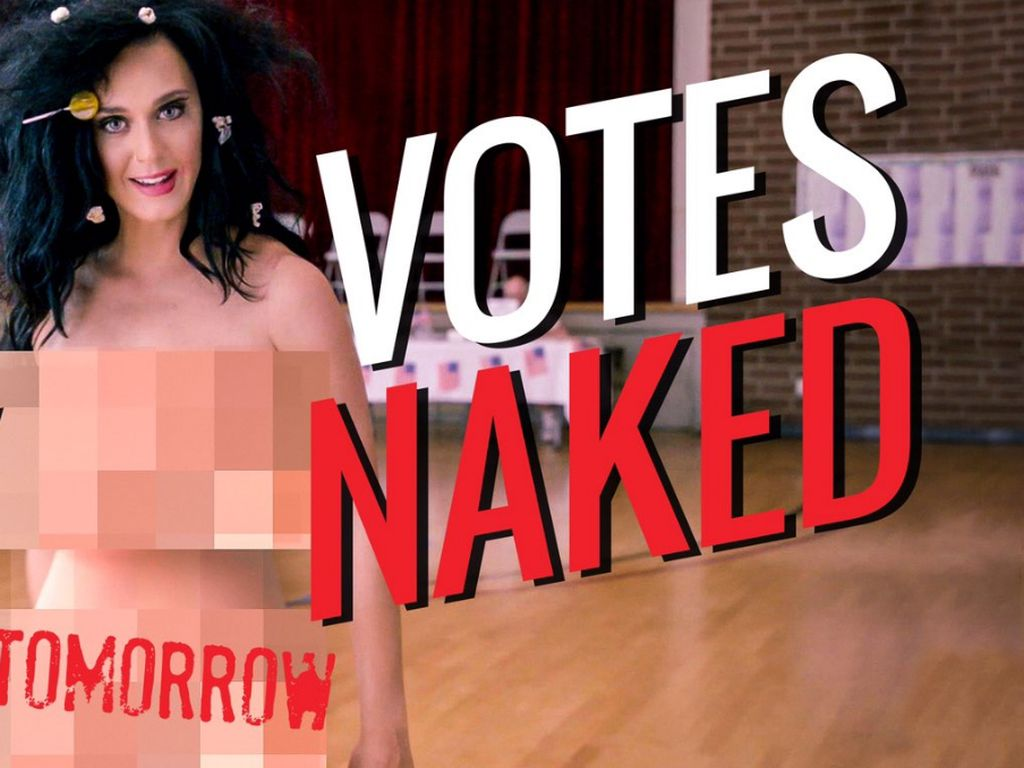 Katy Perry macht sich nackig für den Wahlkampf