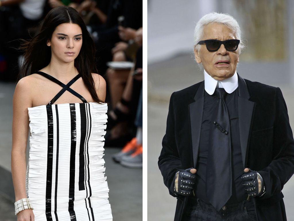 Kendall Jenner und Karl Lagerfeld