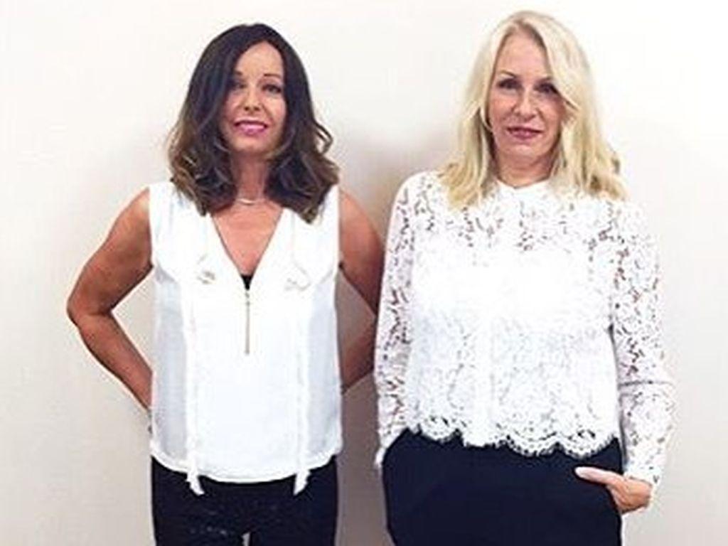 Bananarama-Mitglieder Keren Woodward und Sara Dallin