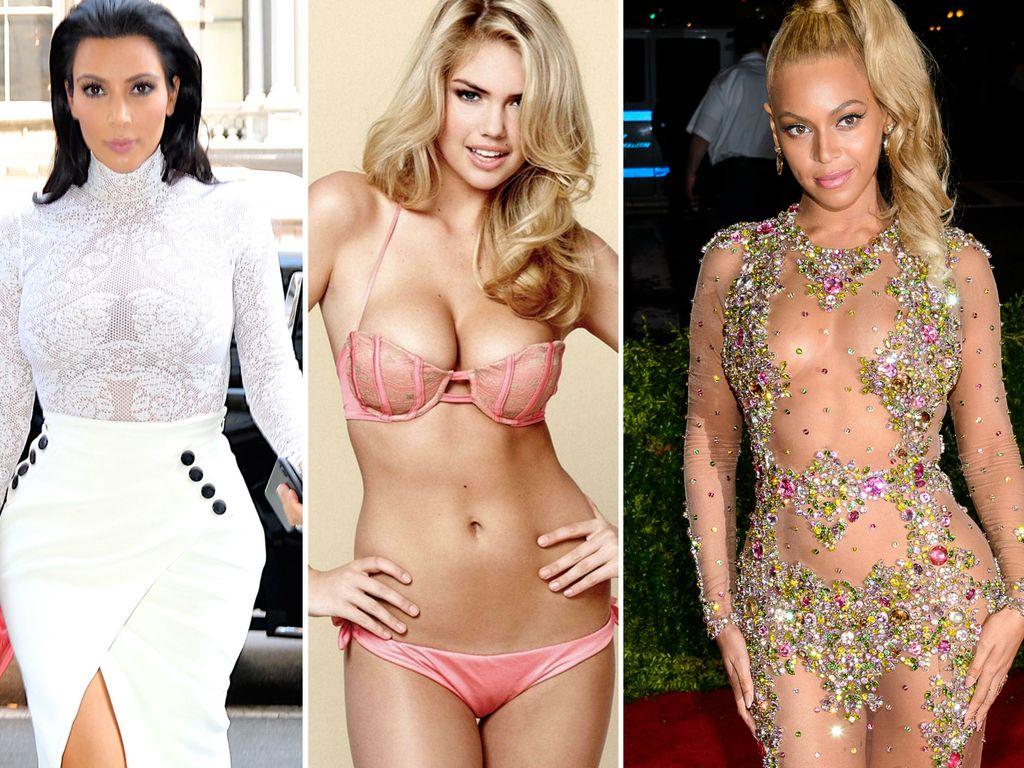 Kim Kardashian, Beyonce und Kate Upton