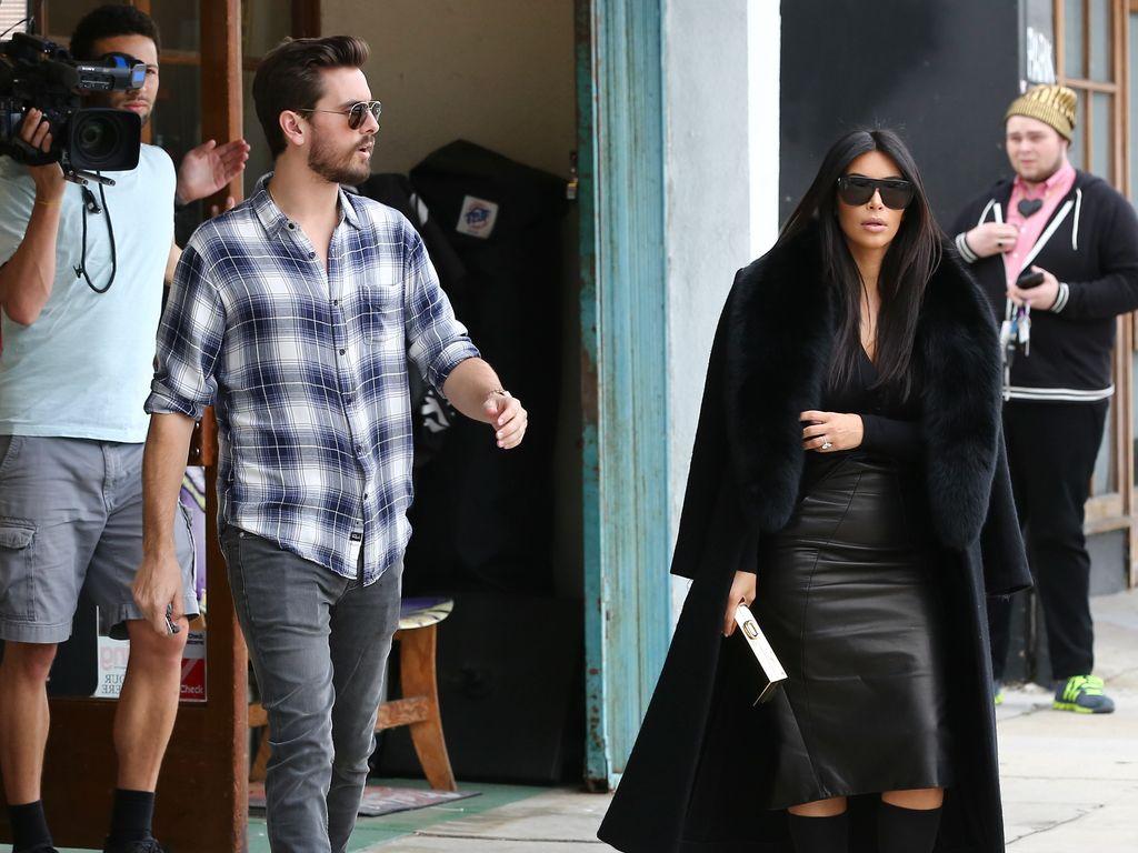 Kim Kardashian und Scott Disick