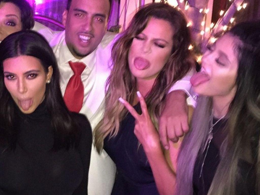 Khloe Kardashian, Kylie Jenner, Kim Kardashian, Kris Jenner und French Montana