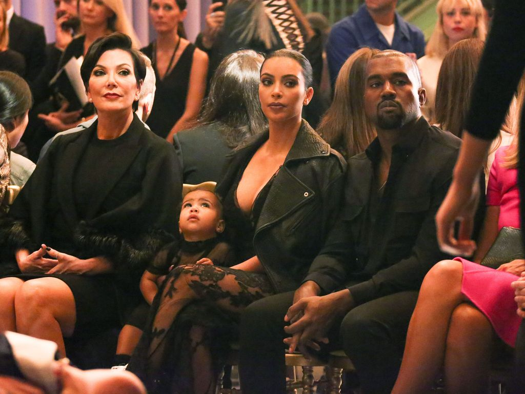 Kim Kardashian, Kanye West, North West und Kris Jenner