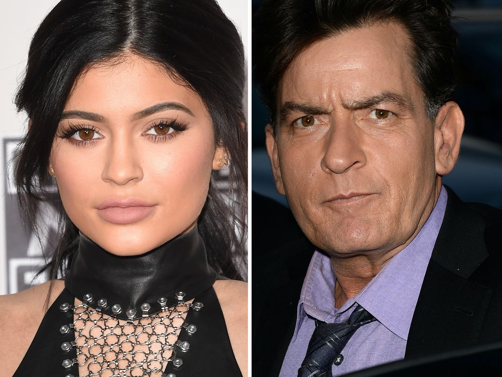 Kylie Jenner und Charlie Sheen