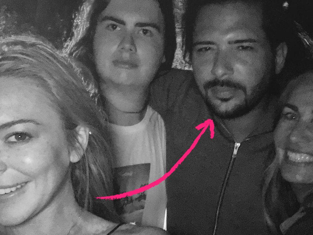 Lindsay Lohan mit Dennis Papageorgiou und Freunden