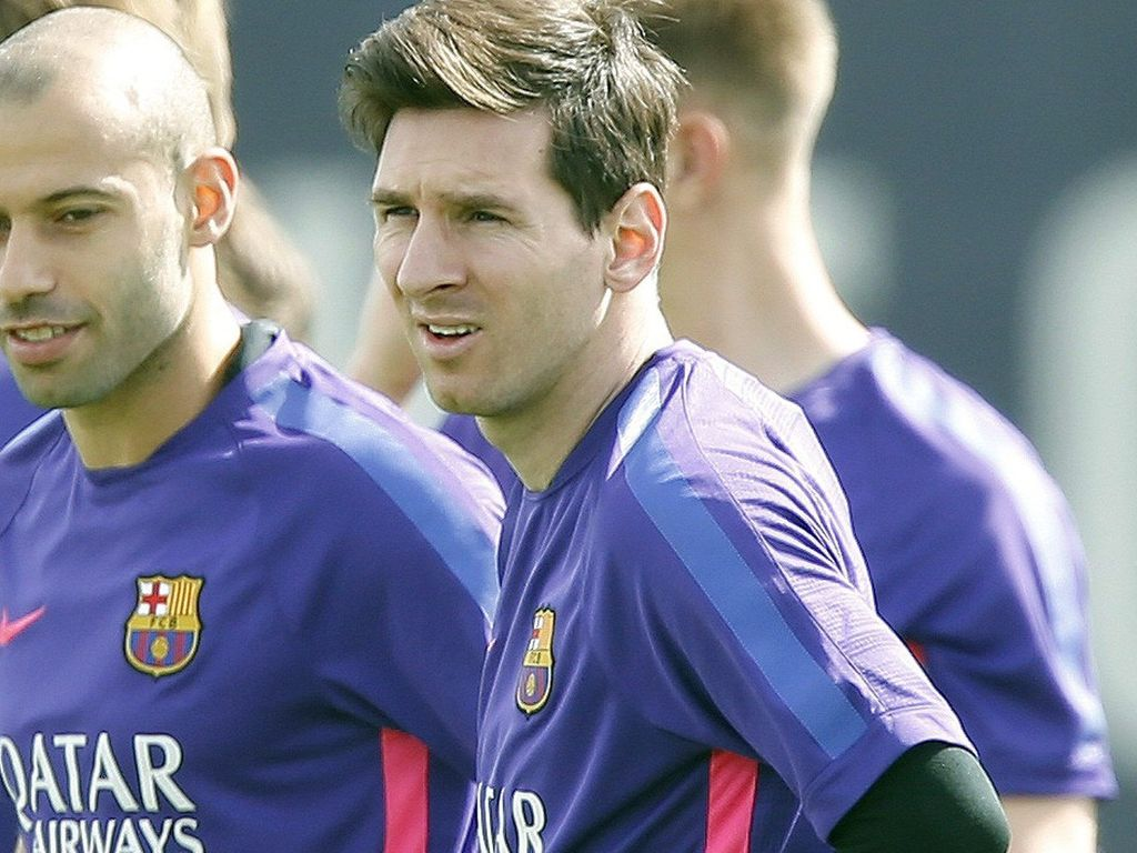 Lionel Messi beim Training des FC Barcelona