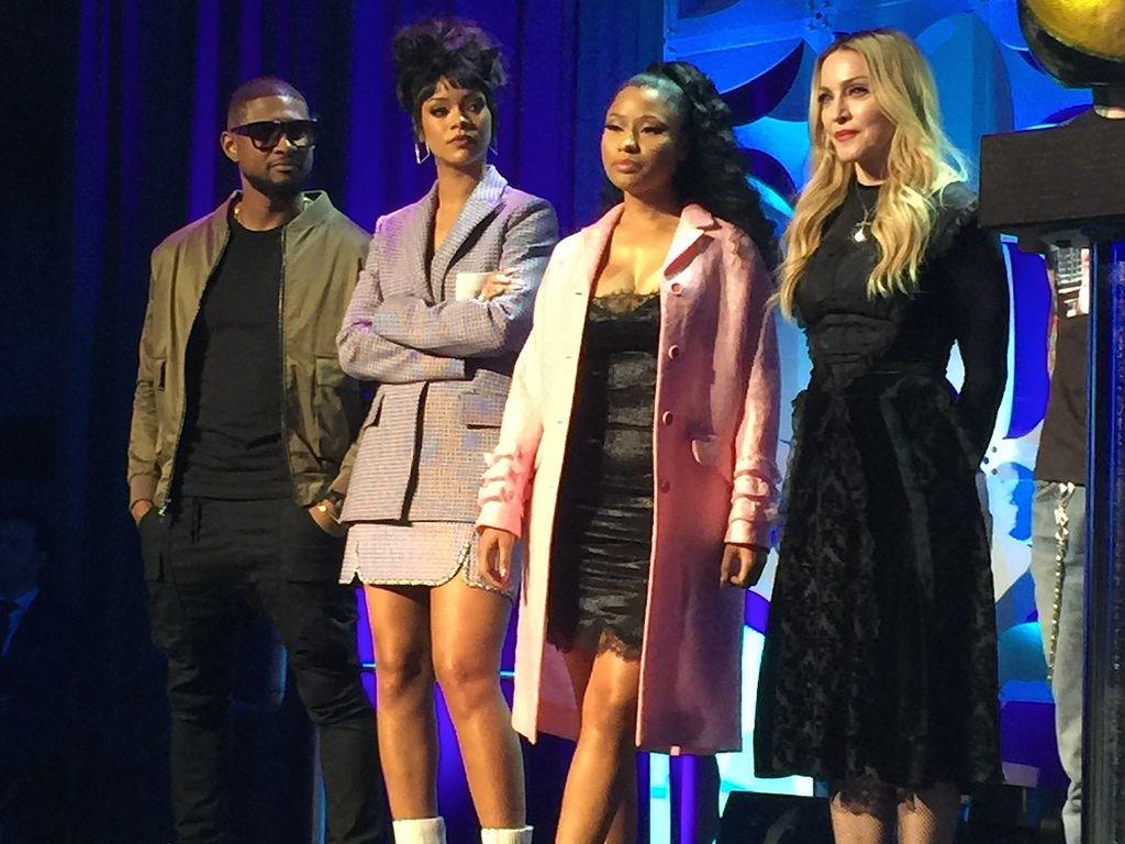 Madonna, Rihanna, Nicki Minaj und Usher