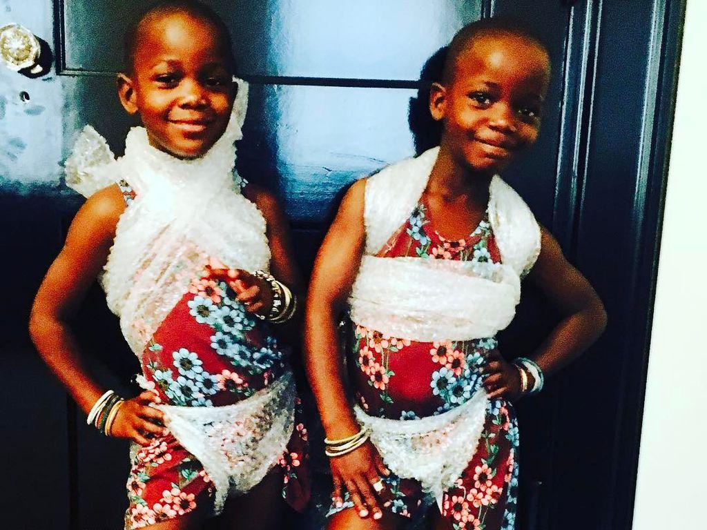 Madonnas Zwillingstöchter Estere und Stelle Ciccone