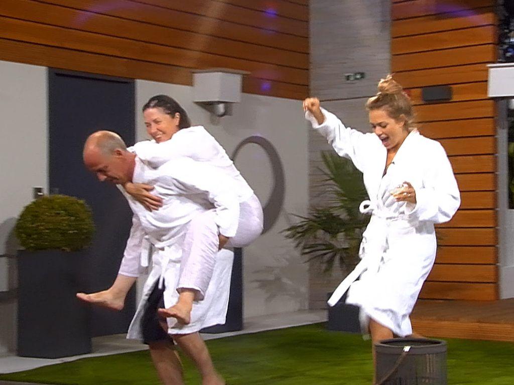 "Mario Basler, Isa Jank und Jessica Paszka bei ""Promi Big Brother"""