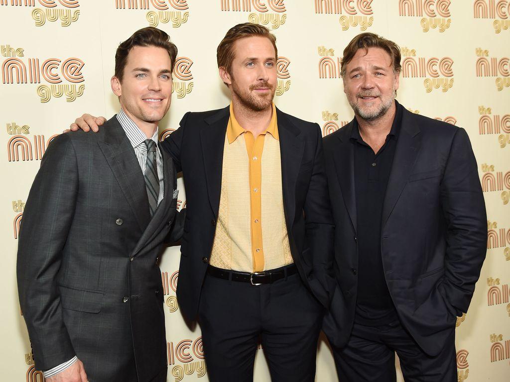 Ryan Gosling, Matt Bomer und Russell Crowe