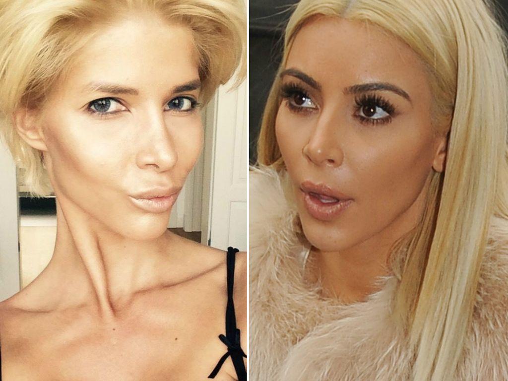 Kim Kardashian und Micaela Schäfer