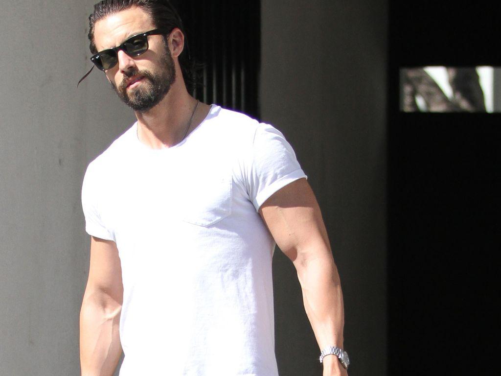 Milo Ventimiglia verlässt ein Fitnessstudio in Hollywood