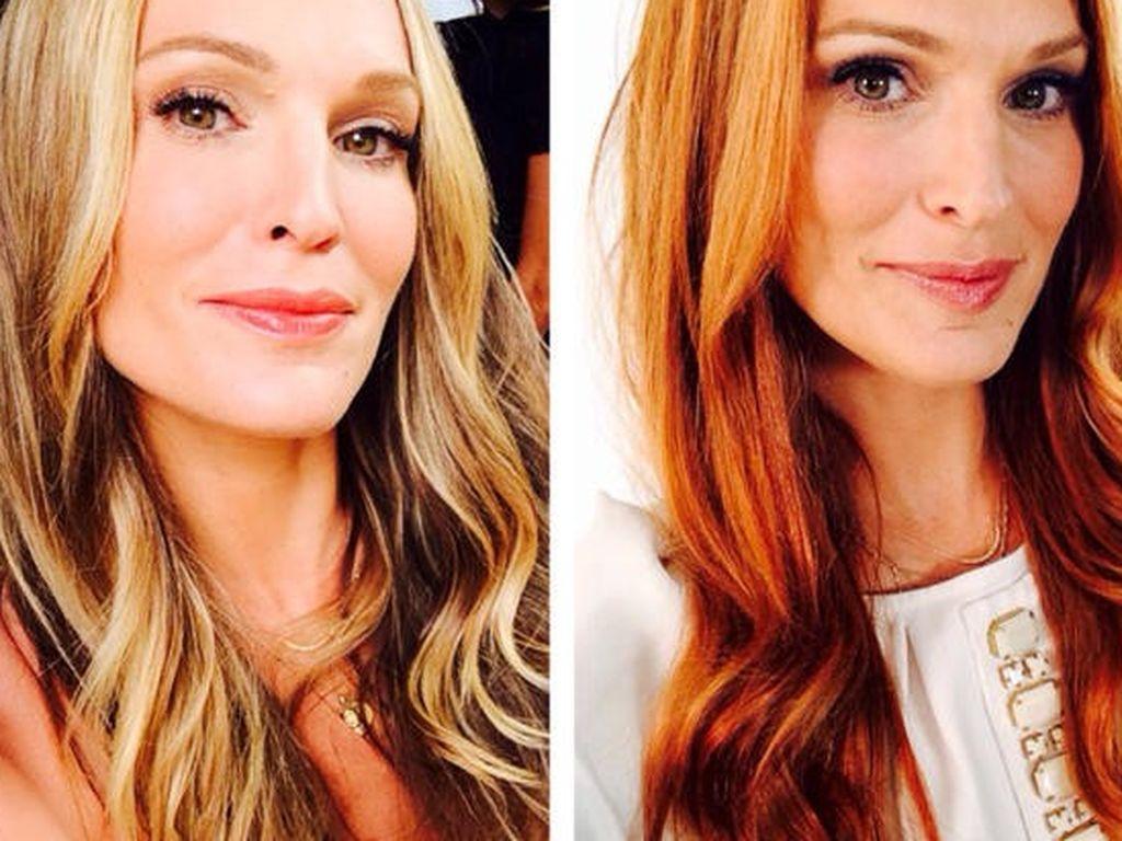Haare farben blond zu rot