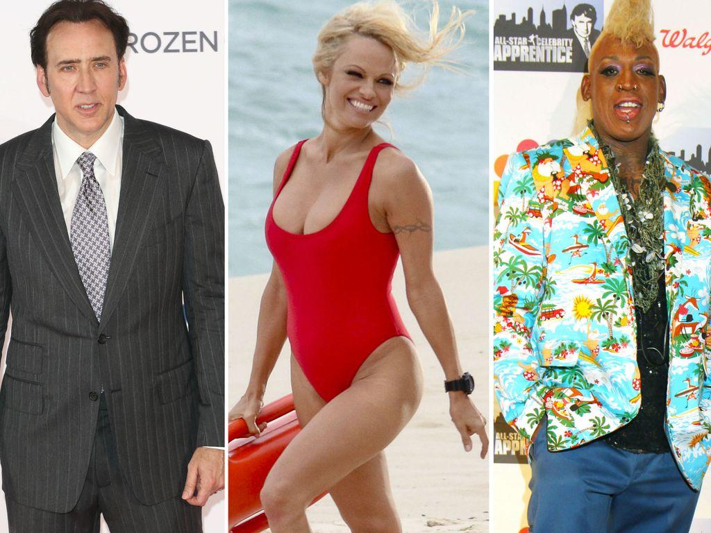 Pamela Anderson, Nicolas Cage und Dennis Rodman