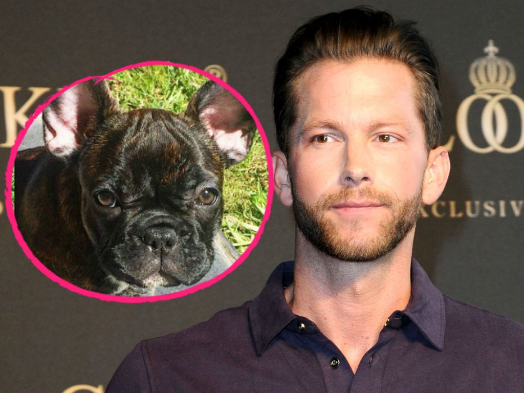 Oliver Sanne und sein neuer Hundewelpe