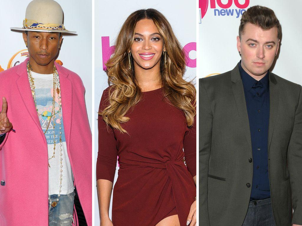 Beyonce, Sam Smith und Pharrell Williams