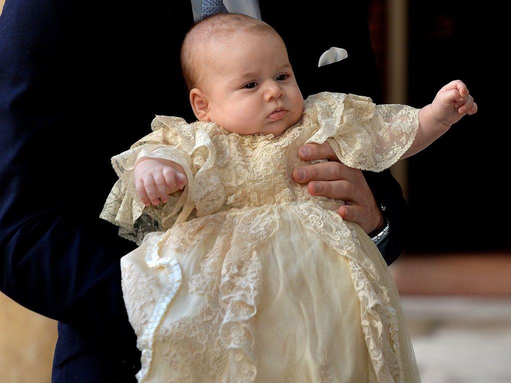 Prinz George bei seiner Taufe