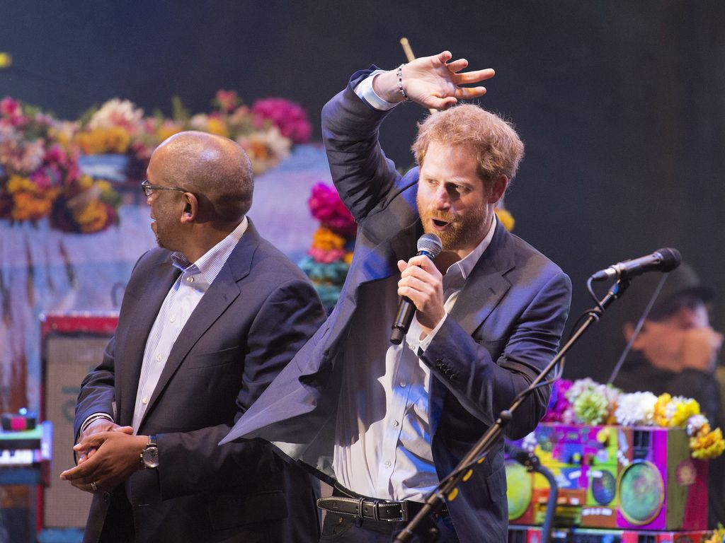 Prinz Harry bei einem Charity-Konzert im Kensington Garten