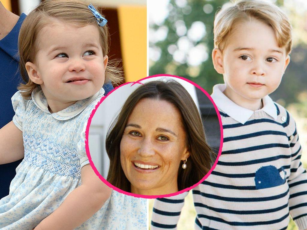 Prinzessin Charlotte, Pippa Middleton und Prinz George