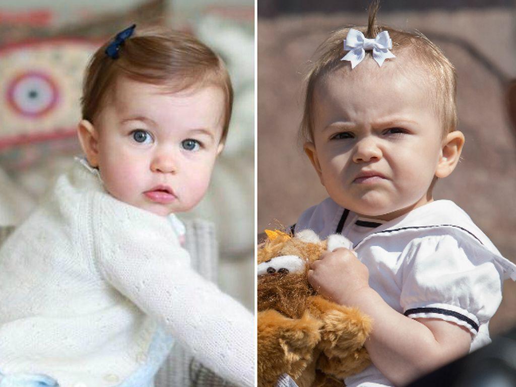 Prinzessin Estelle von Schweden und Prinzessin Charlotte