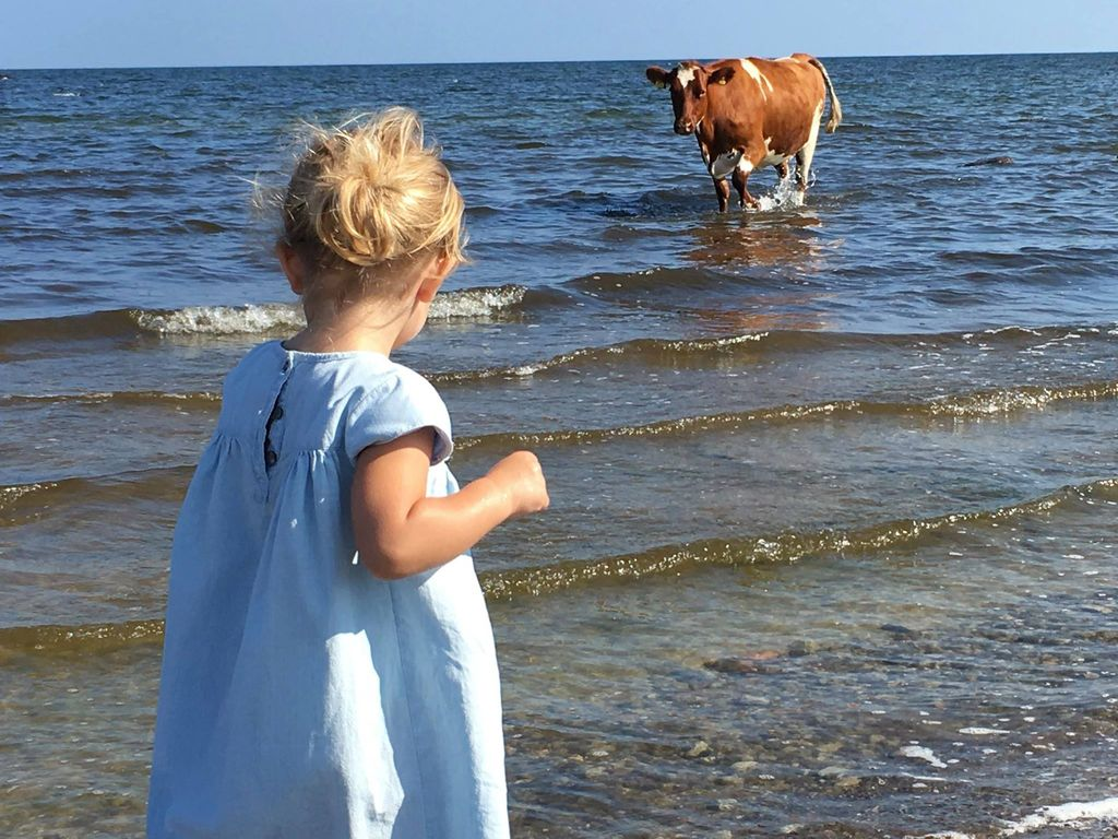 Prinzessin Leonore von Schweden am Strand von Öland