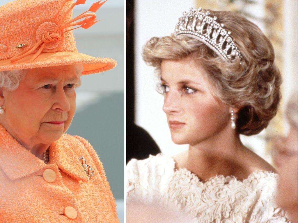 Queen Elizabeth II. und Prinzessin Diana