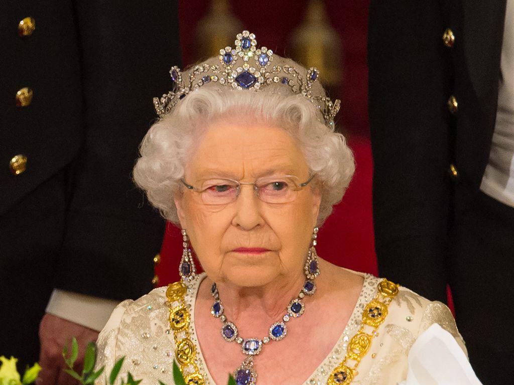 Queen Elizabeth II. beim Staatsbankett im Buckingham Palace