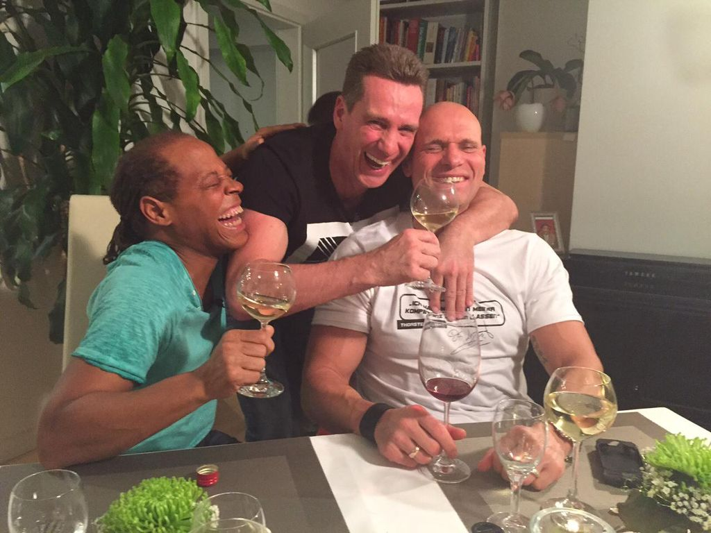 Thorsten Legat, Jürgen Milski und Ricky Harris