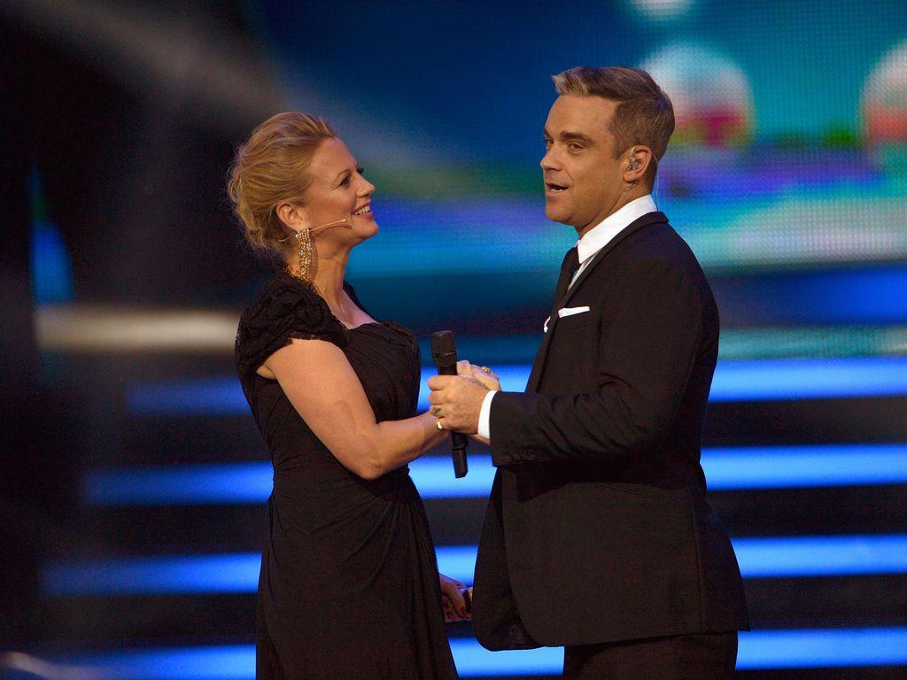 Robbie Williams und Barbara Schöneberger