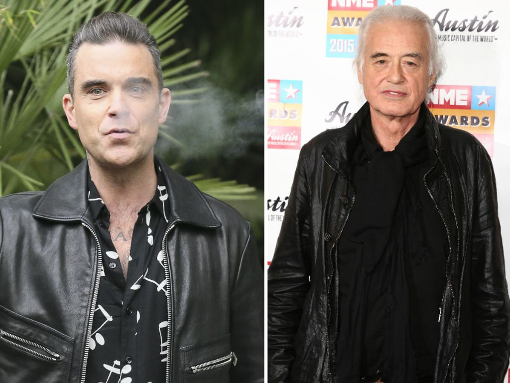 Robbie Williams und Jimmy Page